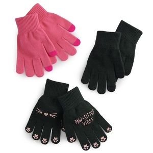 Accessories - Women's pawsative vibes tech glove set NWT